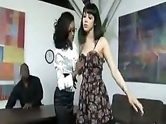 A Bbc Threesome With White And Ebony Girl