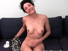 Hairy Granny Has A Wet Spot In Her Panties