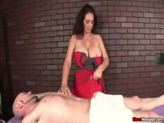 Mean Busty MILF Cock Treatment