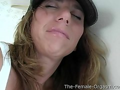 Playful MILF Squats And Masturbates Fleshy Pussy To Dripping Pulsing Orgasm