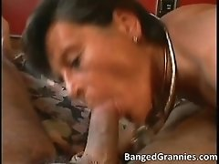 Nasty Brunette MILF Slut With Big Tits Sucking Big Cock