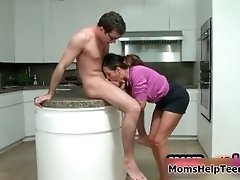 Hot Brunette MILF Goes Crazy Sucking And Kissing An Har
