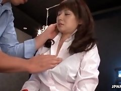 Horny japanese milf gets her firm tits exposed by jpnmi
