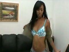 Sexy Bella Moretti black chick on white dick