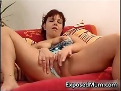 Vibrator drilling mother spreading her snatch 1 by expo