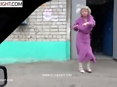 Grandma drunked by