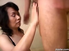 Slutty oriental milf has amazing cock sucking skillz an