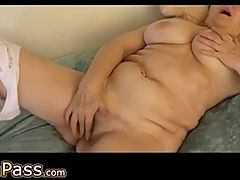 OmaPass Crazy grannies masturbation with toy and guy
