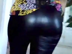 Mom leather leggings