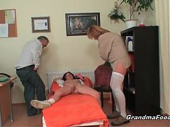 Hot Mature Couple Having Threesome Fun With Hot Babe