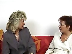 2 Hot German Housewives share a husband cock