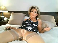 Tough blonde mature