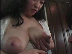 Cute japanese mommy is so horny and needs some european meat