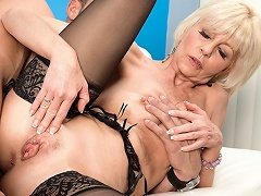 Hairy granny takes it hard and raw