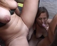 Nice blond granny gets fucked by young dick