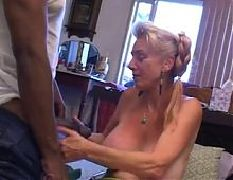 Sweet mom with empty saggy boobs amp 2 guys