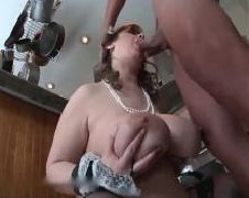 Russian mother in law and husband of her daughter amateur