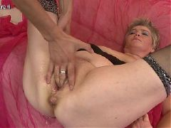 Old granny fucked by mature mother