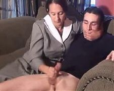 Pretty mom with very hairy cunt